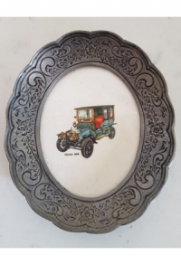 Wand-/Zinnteller mit Keramik oval I (Aktion solange Vorrat)